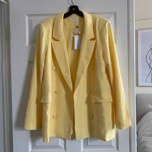 Pale yellow blazer